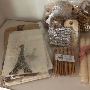 Lot Paris Flea Market French Script GIFT BAGs